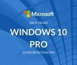 ACTIVACIóN DE PRODUCTO: WINDOWS 10 PRO