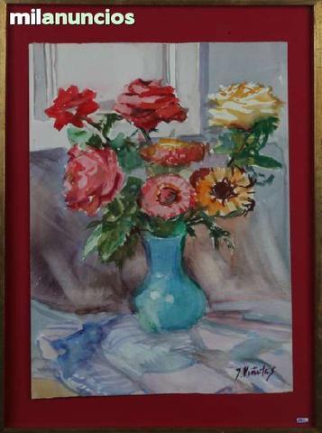 Cuadro de juli viÑolas - jarrÓn flores - foto 1