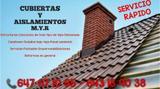 CUBIERTA  Y AISLAMIENTOS  M.Y.R.  - foto