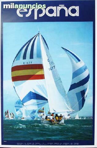 Cartel de turismo - espaÑa, vela - foto 1