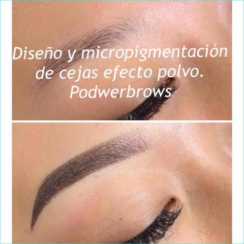Micro pigmentación de cejas efecto polvo - foto 1