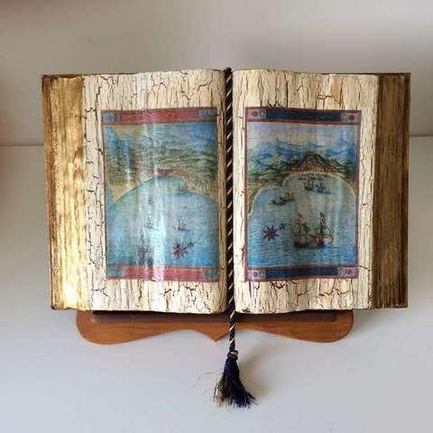 Libro decoración   hecho a mano - foto 1