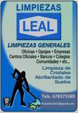 LIMPIEZAS LEAL 24 HORAS AGOSTO - foto