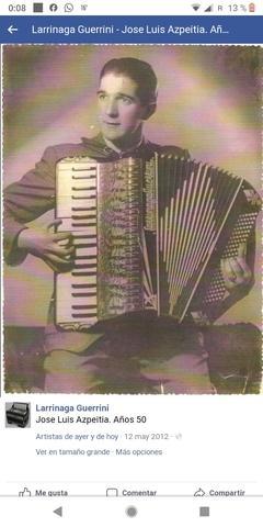 Acordeon larrinaga guerrini años 40 - foto 1
