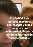 CUIDADORA DE PERDONA MAYOR Y CANGURO  - foto