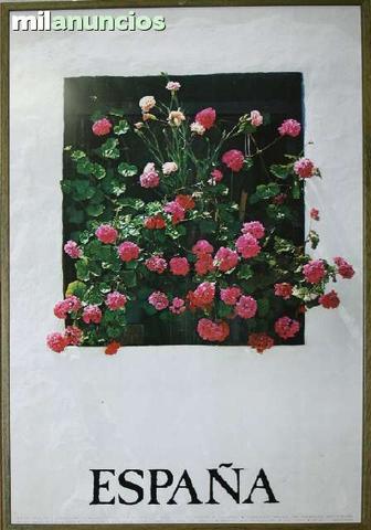 Cartel de espaÑa: ventana y flores - foto 1