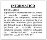 INFORMATICO-REPARACION DE ORDENADORES