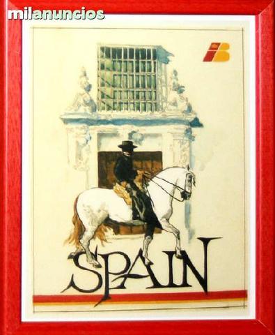 Cartel iberia, spain (a caballo) - foto 1