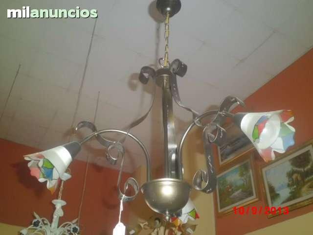 lámpara de forja de 3 brazos - foto 1